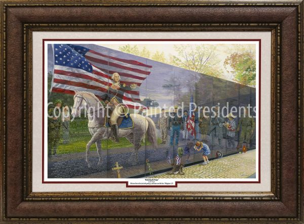 Reviewing the Troops by Jack E. Dawson - 053 - 1218 - PDM - 8235 - FRAMED